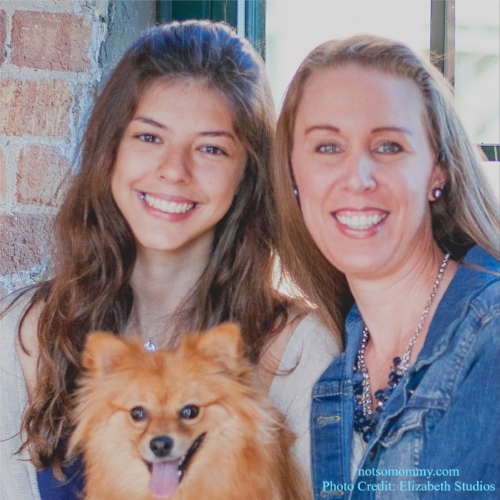 I never thought my daughters would be a foreign exchange student from Brazil and a furry Pom! April 2015