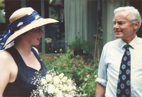 Nicci and her dad two months before he died.