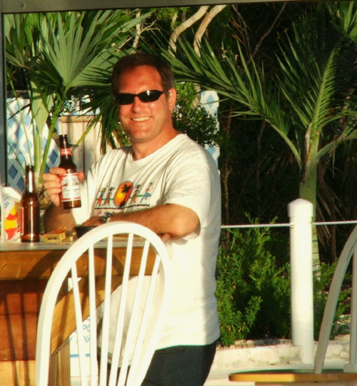 Andrew Fletcher in the Bahamas.