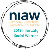 I received this badge for my work as an Infertility Social Warrior! I am a Proud Warrior!