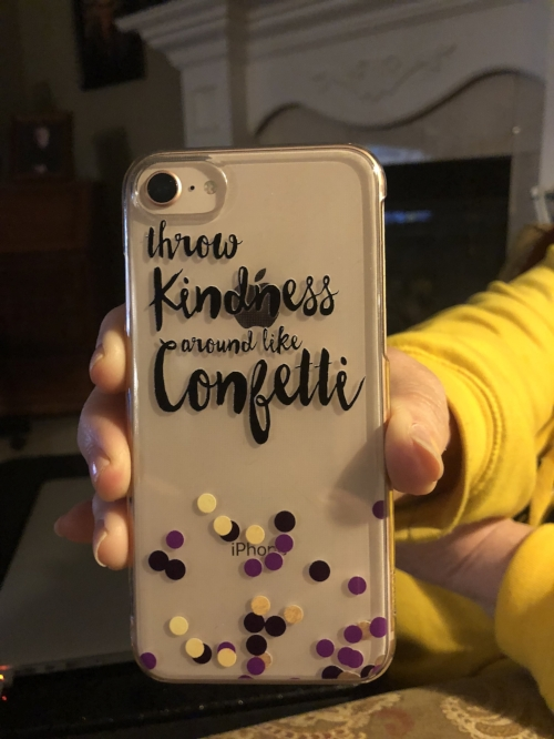 My phone case captures the essence of my desire to help those who are struggling with infertility.