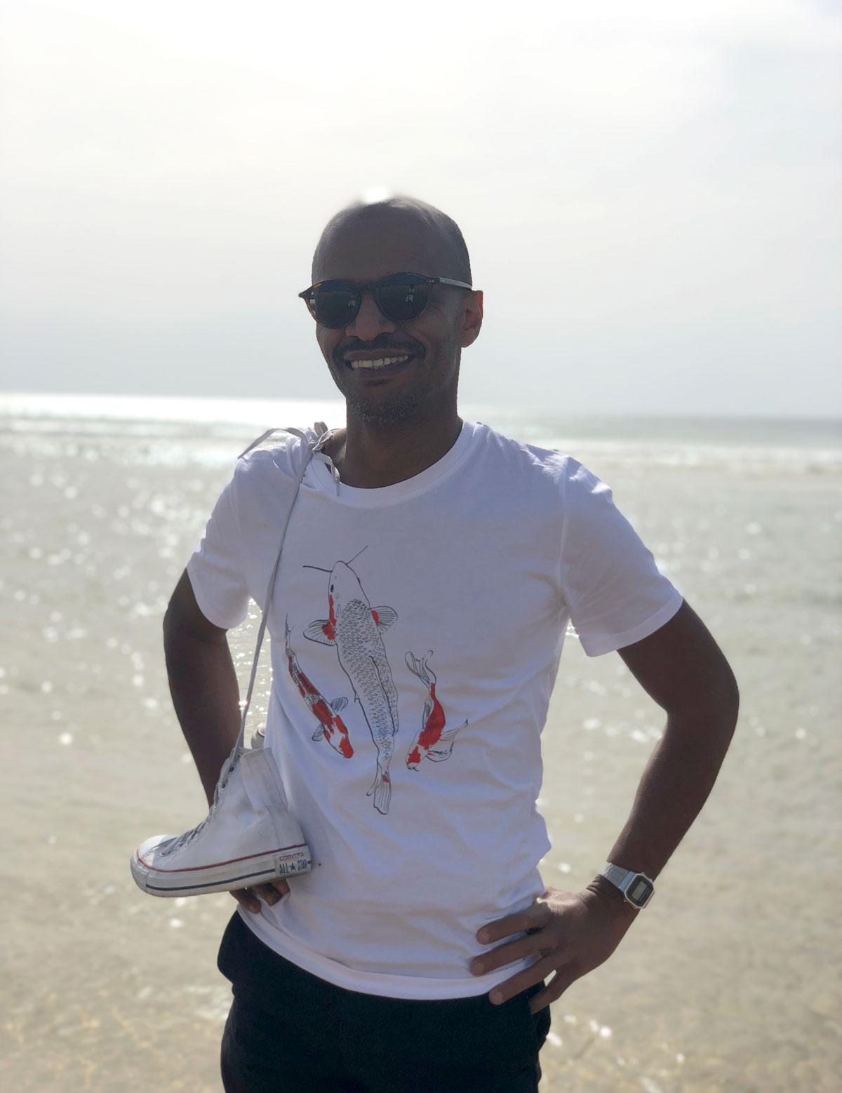 Diake konate belhadi -  t-shirt Koï  - Lisbonne, Portugal