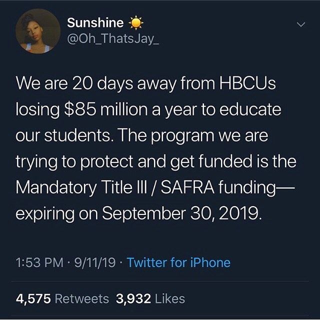 A Thread On How To Protect Our HBCU's. Link. In. Bio. 📷: @oh_thatsjay_