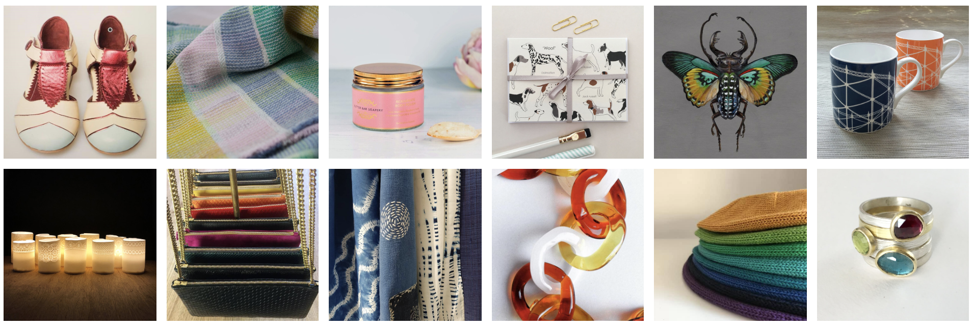 Muswell Hill Creatives:   Yaya Lala Kids ; By Cecil;  Butter Bar Soapery ;  Nina Nou ;  Jess Albert ;  Jo Angell ;  Luminous Muse Ceramics ;  Rachel Orme ;  Romor Designs;   Samantha Sweet ;  Lord and Taft  and  Wyckoff Smith Jewellery .