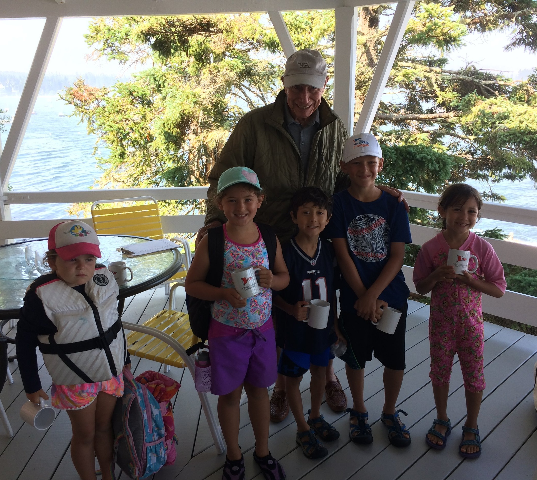 Alan J. Goldstein Junior Sailing Program - Photo: Junior Sailing Awards with Alan.