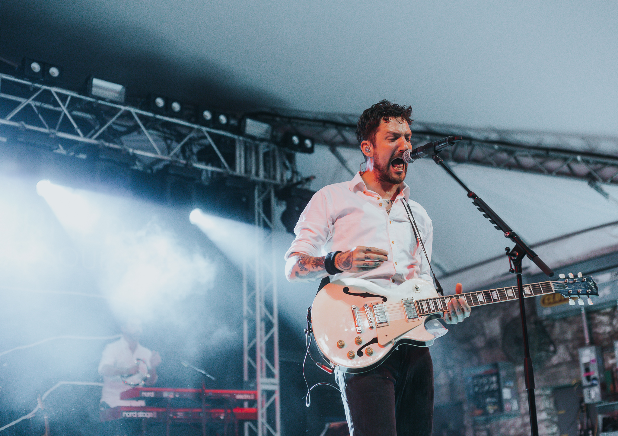 FRANK TURNER PERFORMING AT STUBB'S IN AUSTIN, TX ON JUNE 13, 2018.