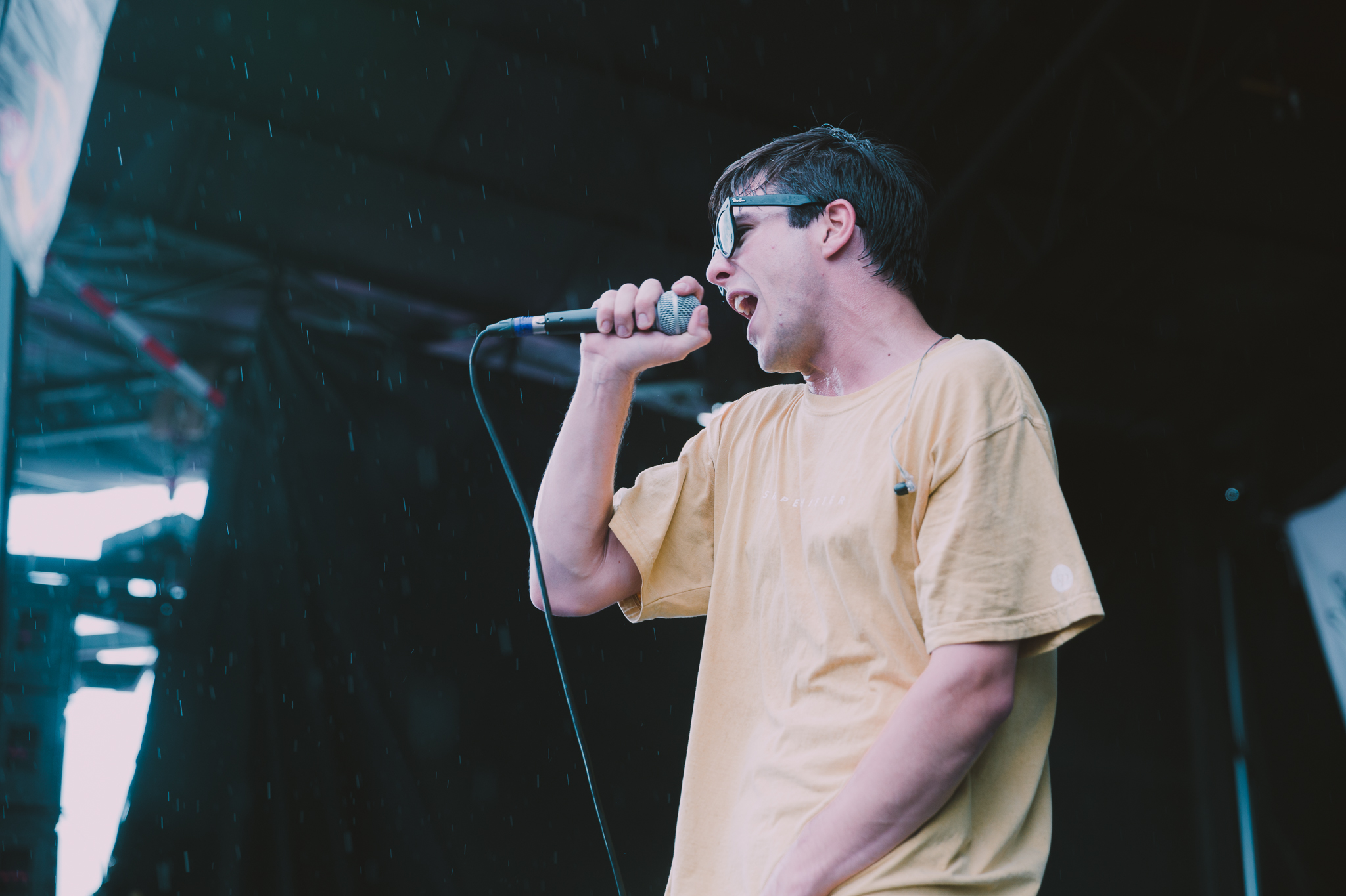 KNUCKLE PUCK PERFORMING AT VAN'S WARPED TOUR IN SAN ANTONIO, TX ON JULY 07, 2018.