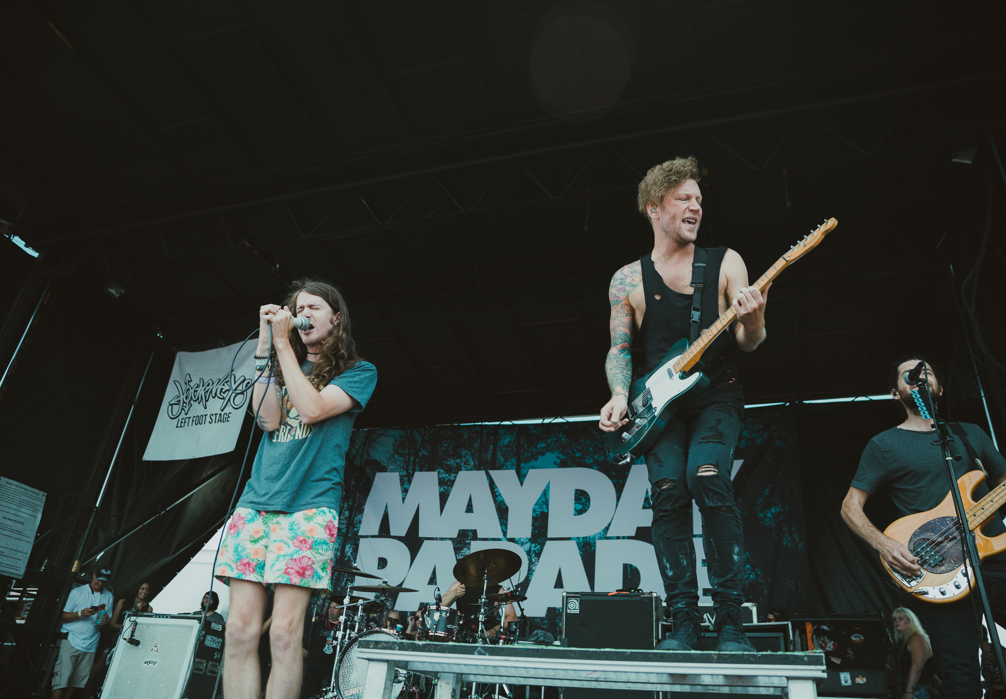 MAYDAY PARADE PERFORMING AT VAN'S WARPED TOUR IN SAN ANTONIO, TX ON JULY 07, 2018.