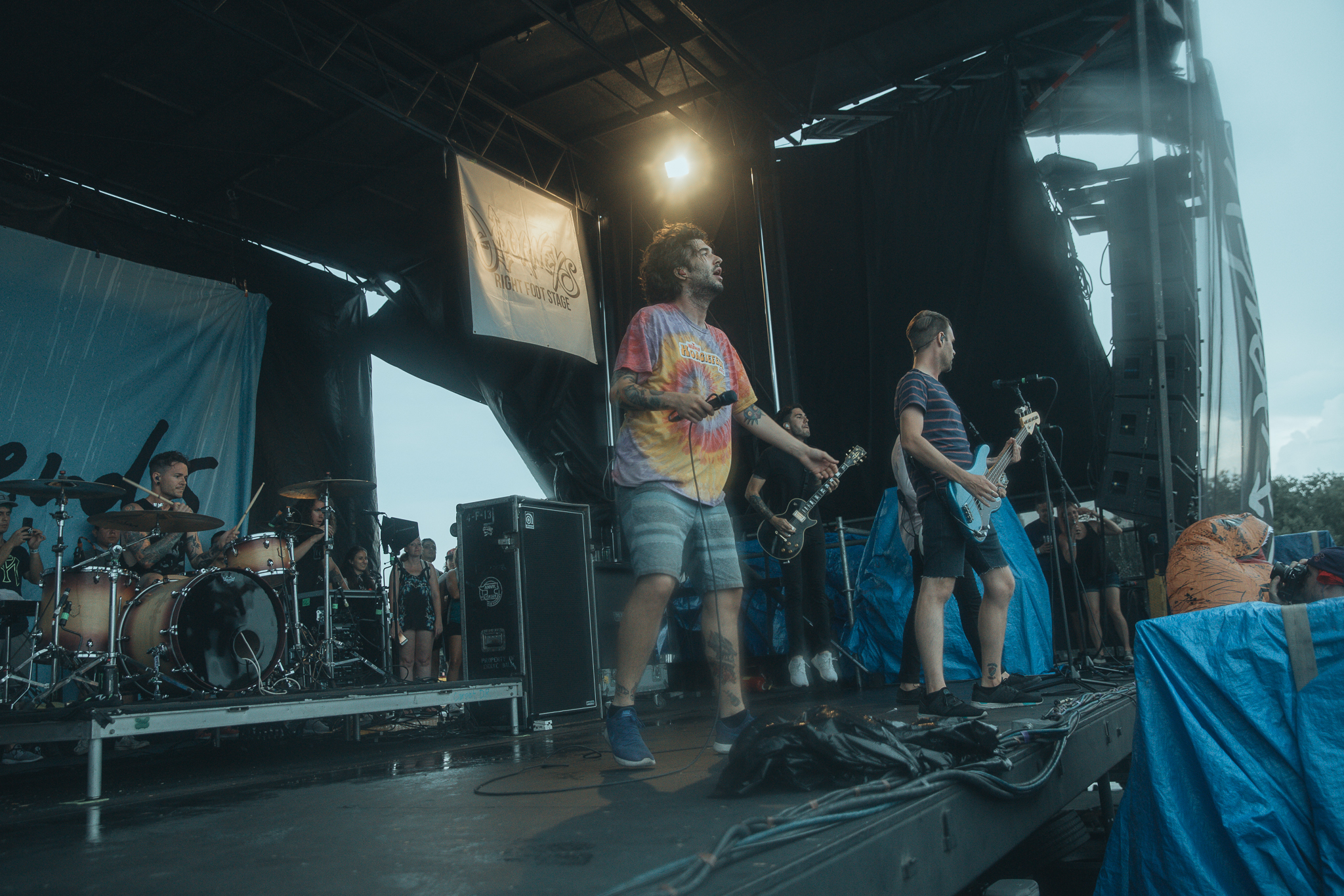 REAL FRIENDS PERFORMING AT VAN'S WARPED TOUR IN SAN ANTONIO, TX ON JULY 07, 2018.