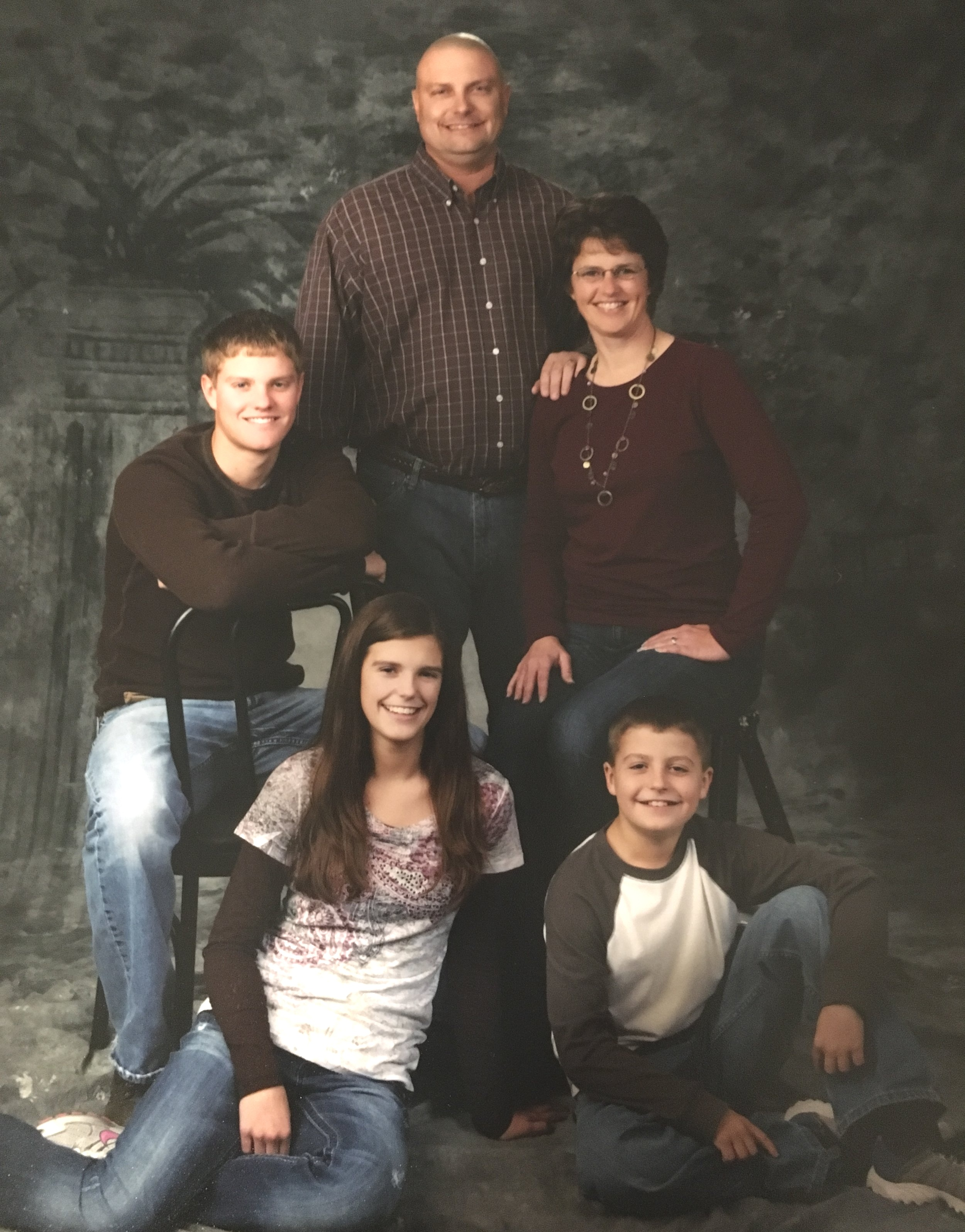 """the bachle family - """"In March of 2011, my husband was diagnosed with glioblastoma stage 4 brain cancer. The Grace Cancer Foundation gave our family a gas card that we used when traveling back and forth to UNMC for appointments. You don't really think about travel costs with cancer, but they can really add up and that gas card was really a lot of help. Another great thing was that someone involved with the Grace Cancer Foundation reached out to us to see if we could use some assistance. It is truly so hard to ask for help sometimes!THANK YOU for the support!!""""  - Becky Bachle"""
