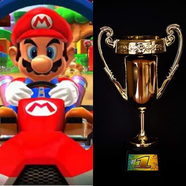 Mario has his eye's on the prize // Come out this Saturday at 7:00  for a chance to win The Platform's Mario Kart Tournament! Race for the trophy cast in the fires of the DK Mountain. Wrought with the ancient gold of valiance. Swipe right to  see who won the trophy last year. 😉