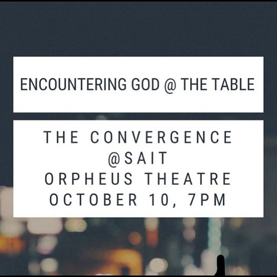 We are heading to the Convergence next Thursday! There will be worship and teaching on encountering God at the Table. Whether we say Communion, Eucharist, or The Lord's Table, we're talking about the same thing. God meets us in beautiful and mysterious ways at this Table, so  come and encounter God as we gather around the Table together.  Come to the Church at 6:15, if you need a ride or meet us at Sait. https://www.facebook.com/events/469047297015648/?ti=icl