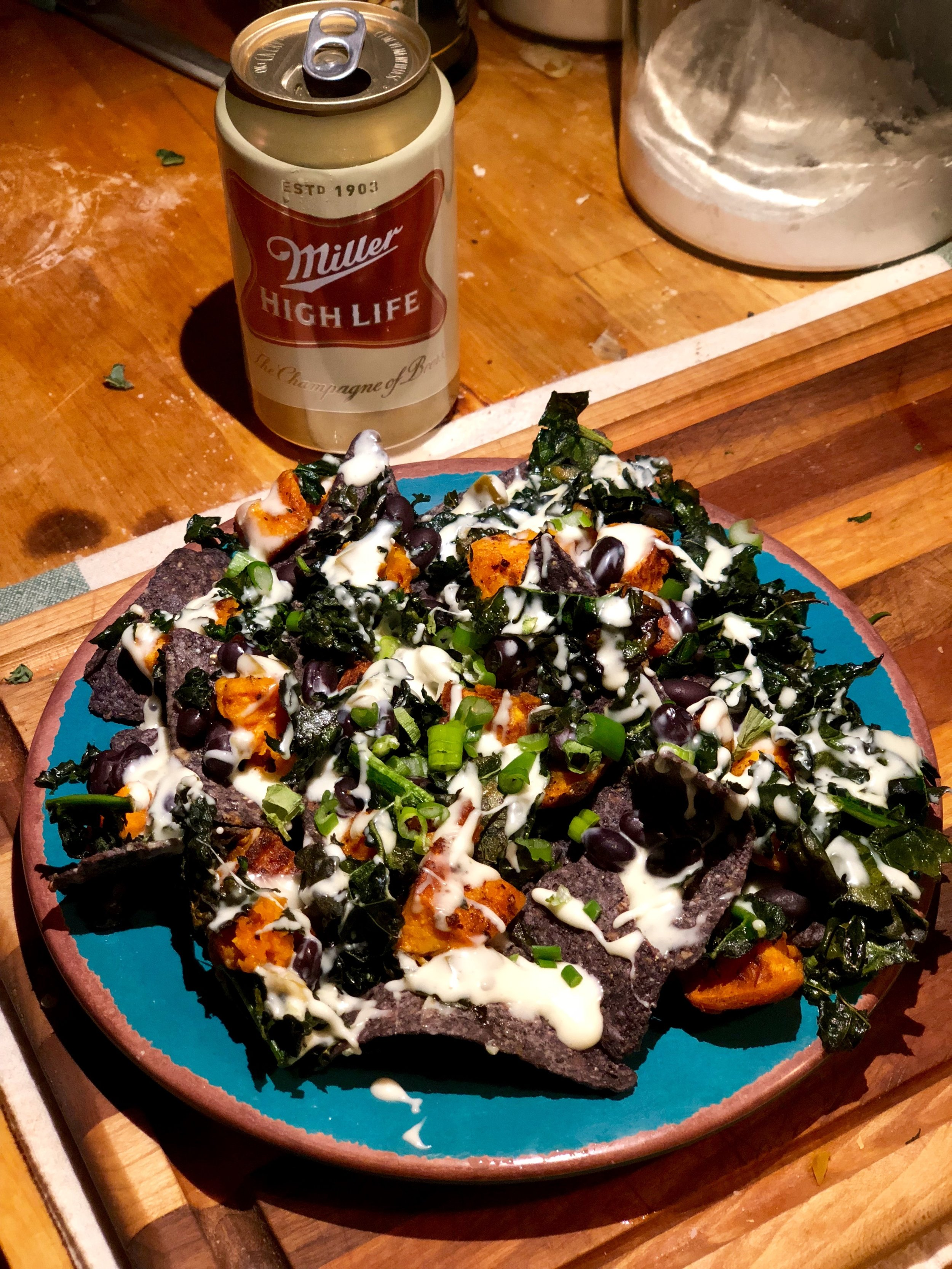 Recipe Remix! - I've added a new section to the site, where I'll be posting my takes on recipes I've either made before and changed, or recipes I've repurposed or combined. Up first, a healthier take on nachos for dinner, with a side of queso of course.
