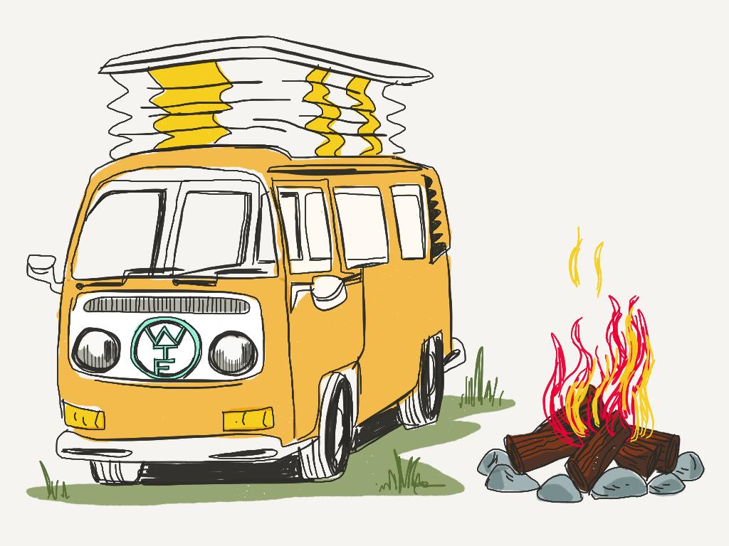 Van Life -  tiny living illustration for Favourite Human blog