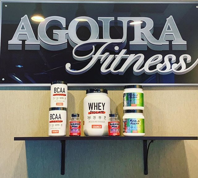 Now in stock and available at Agoura Fitness!!! @staunch.nation products.  #supplements#whey#proteinpowder#why#wheyprotein#fatburner#burningman#koalafreak#preworkout#bcaa#hydration#staunchnation#caumvonmoger#gym#fitnesscenter#onsalenow#buy#buyhere