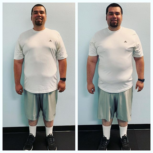 #transformationtuesday Meet our member JT! He started his healthy lifestyle journey on 2/13/19 weighing in at 310. Current photo 272 on the left!! That's 38lbs lost in just under 12 weeks!!!! Ready to start your own journey? . . . #gym#fitnesscenter#weightloss#transformation#weightlossjourney#trainer#trainhard#goals#weighttraining#cardio#diet#calabasas#agoutahills#malibu#oakpark#thousandoaks#bar2cleanliving