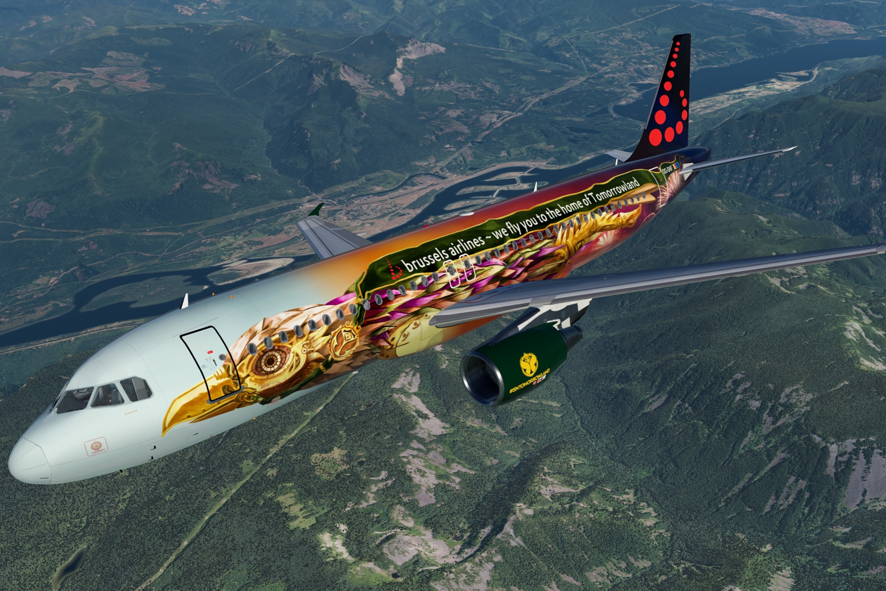 - Brussels airlines(tomorrowland)