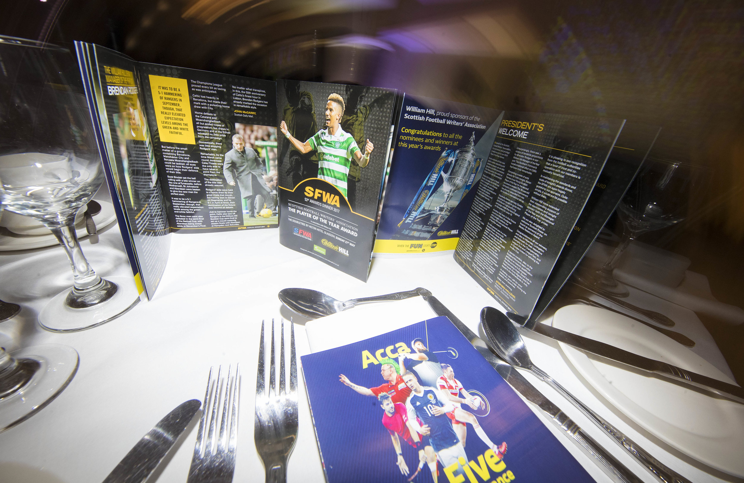 The souvenir SFWA awards dinner programme