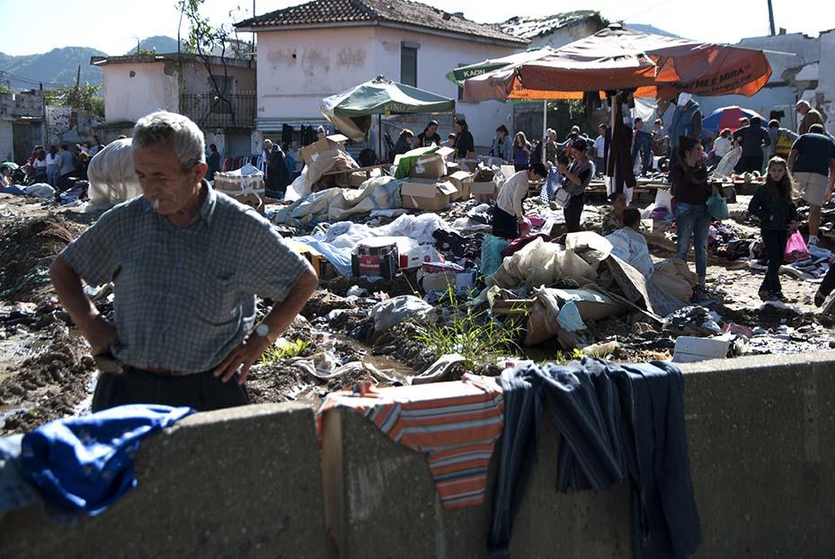 Mercato povero, Tirana, 2016.