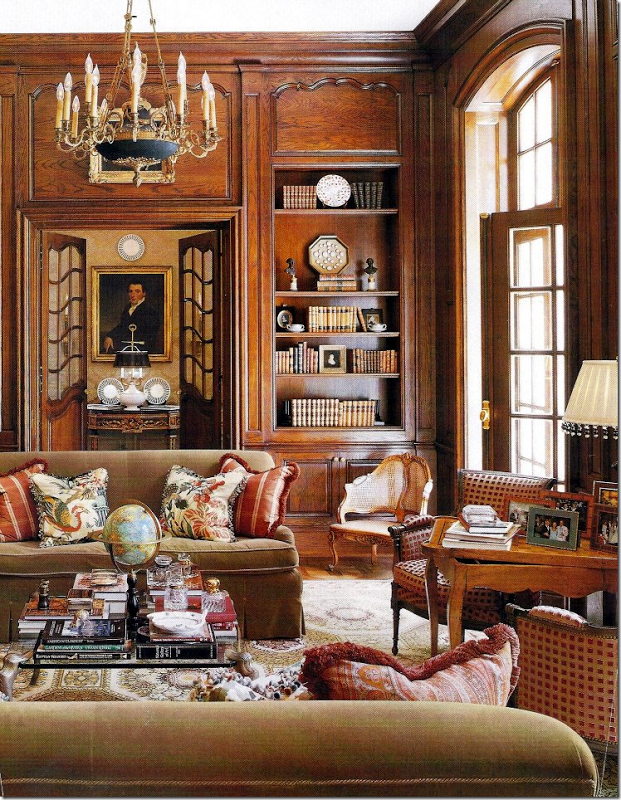 Parisian designed library and study by Ginny Magher