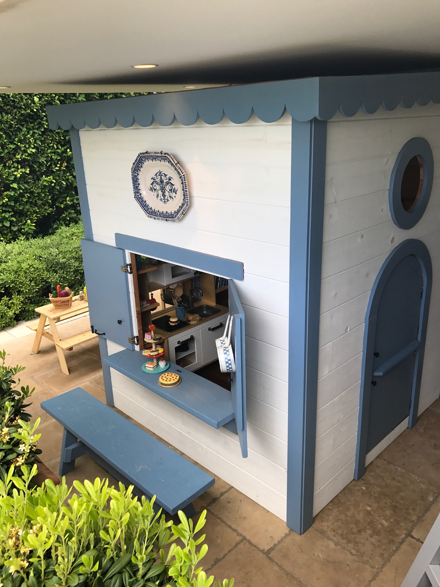 Child's playhouse at Laguna Beach French style home.