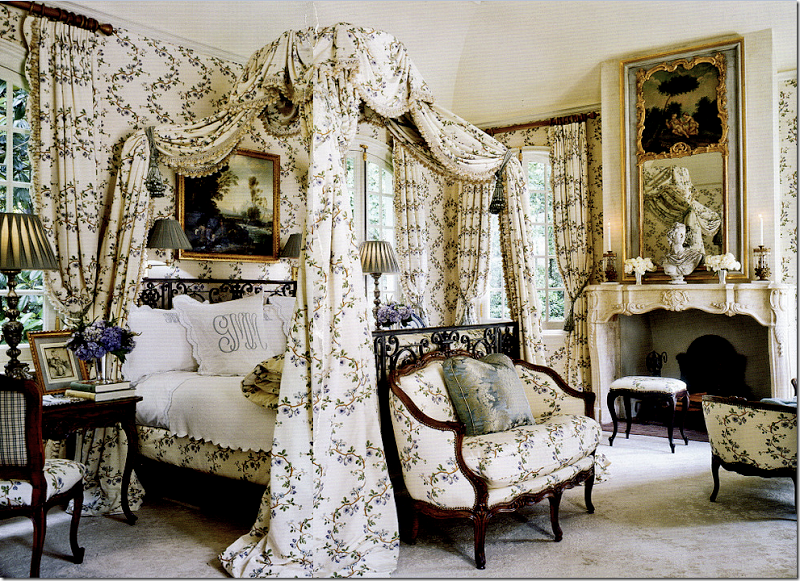 Parisian style bedroom designed by interior designer Ginny Magher