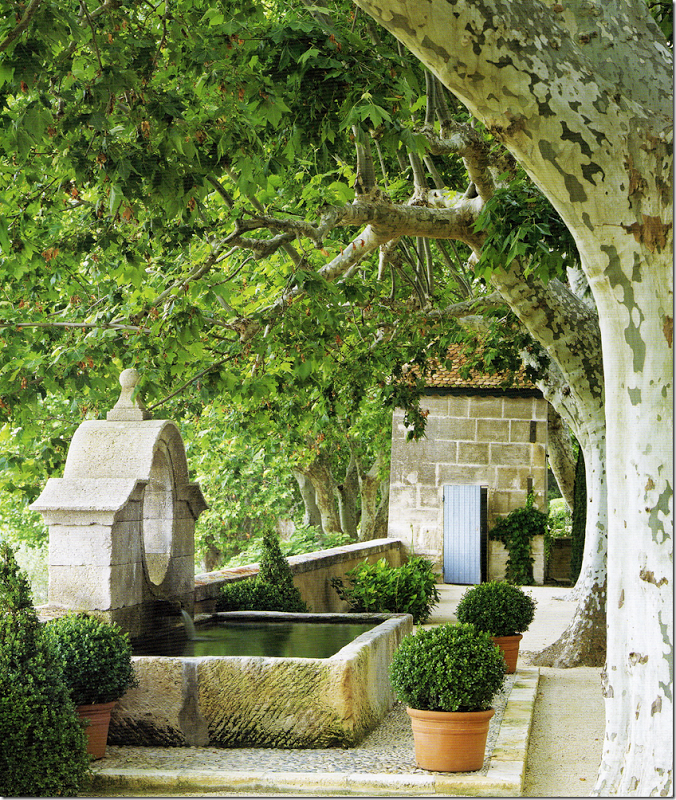 Mas de Baraquet fountain in Provence, France.