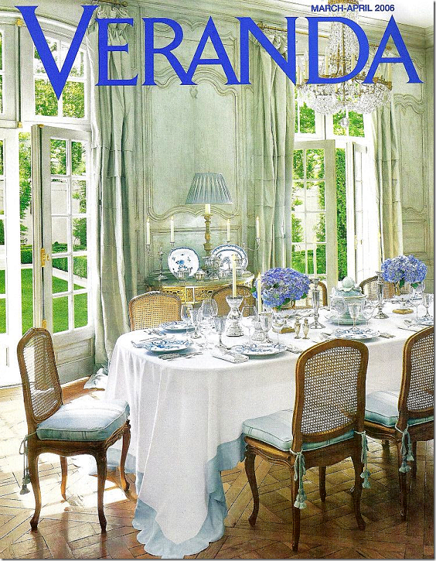 Parisian Hotel Particulierin Atlanta - For her own Atlanta home, Ginny designed in the Parisian Hotel Particulier style. The home, which showcases Versailles parquet floors and arched windows,was featured in Veranda.