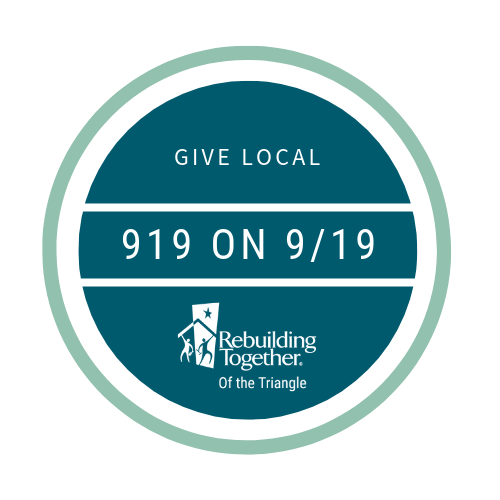 This  September 19th , please support local (919 area code) homeowners in need of critical home repairs.  More than 600 households are on our waiting list. You can help us serve more families and preserve affordable housing in the Triangle.  Please join us to make a difference for  #919on919 .