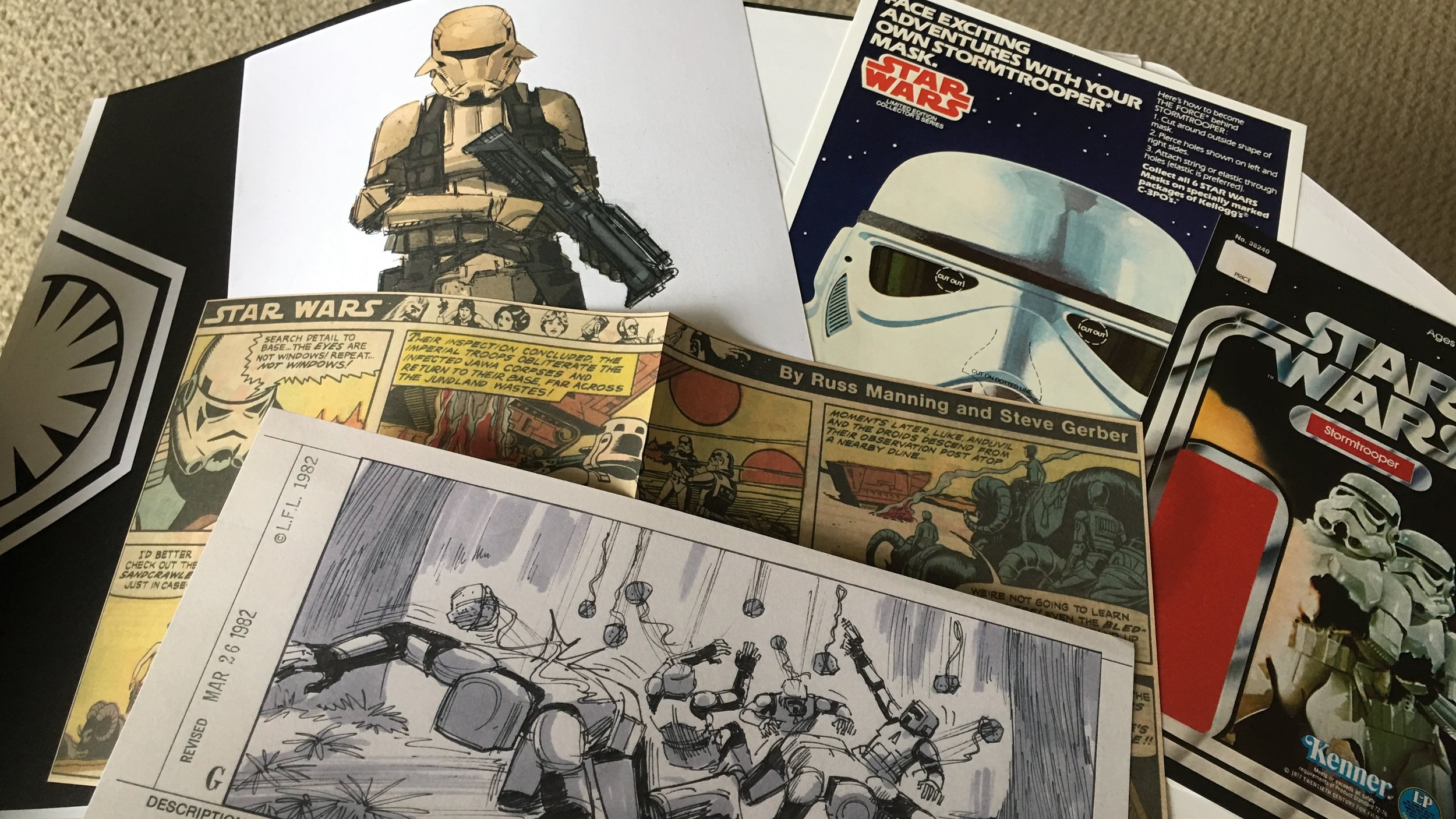 """The amazing bonus content found in the """"Stormtroopers"""" book mentioned in this week's bonus video."""