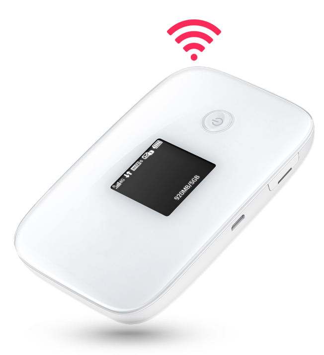 White PocketWiFi device with no logo
