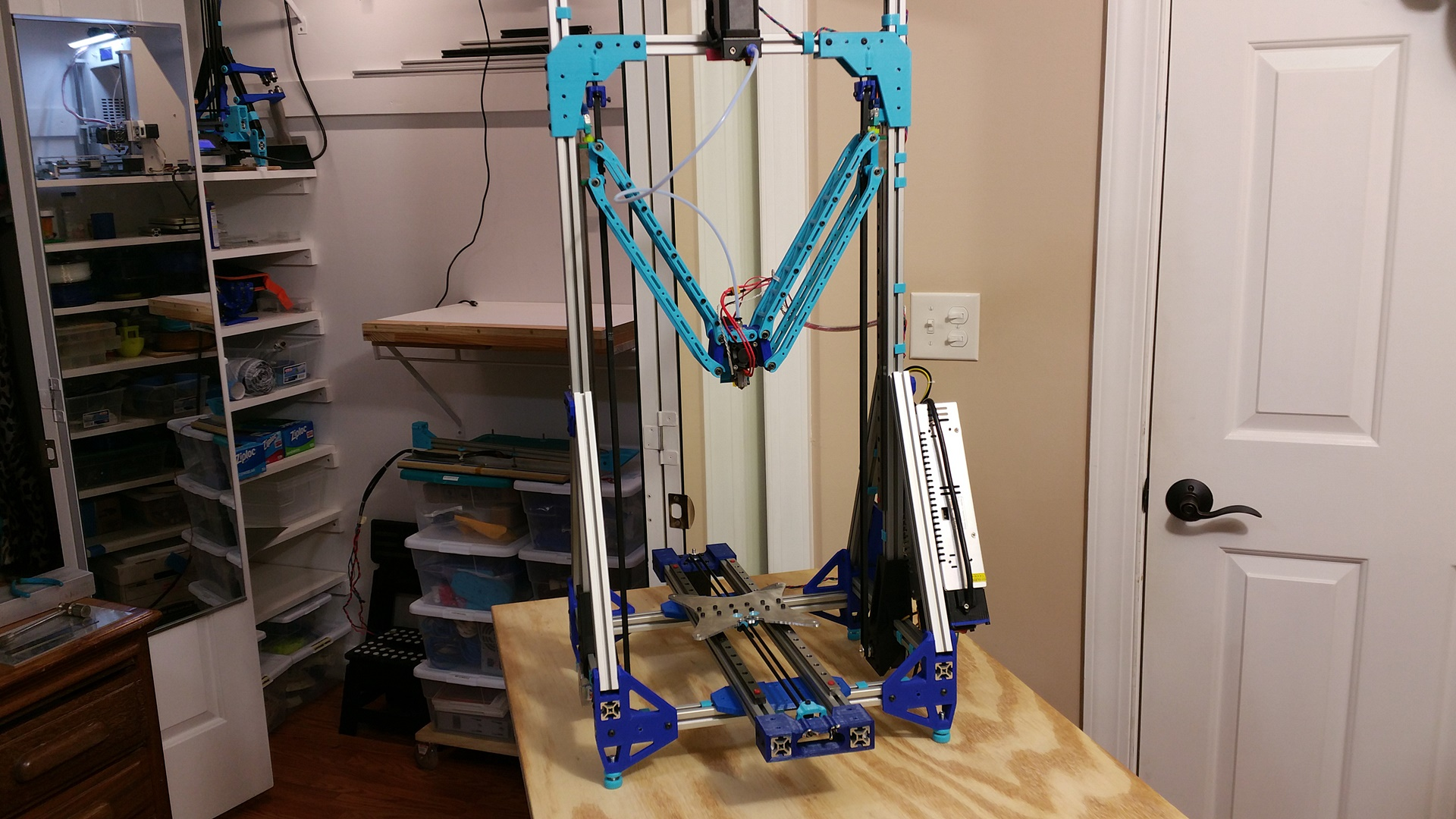 Full Frame Shot of the Test Fit.    That's if for the night! Bed install and printing tomorrow!