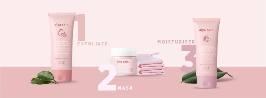 Alya Skin. three-step skincare system