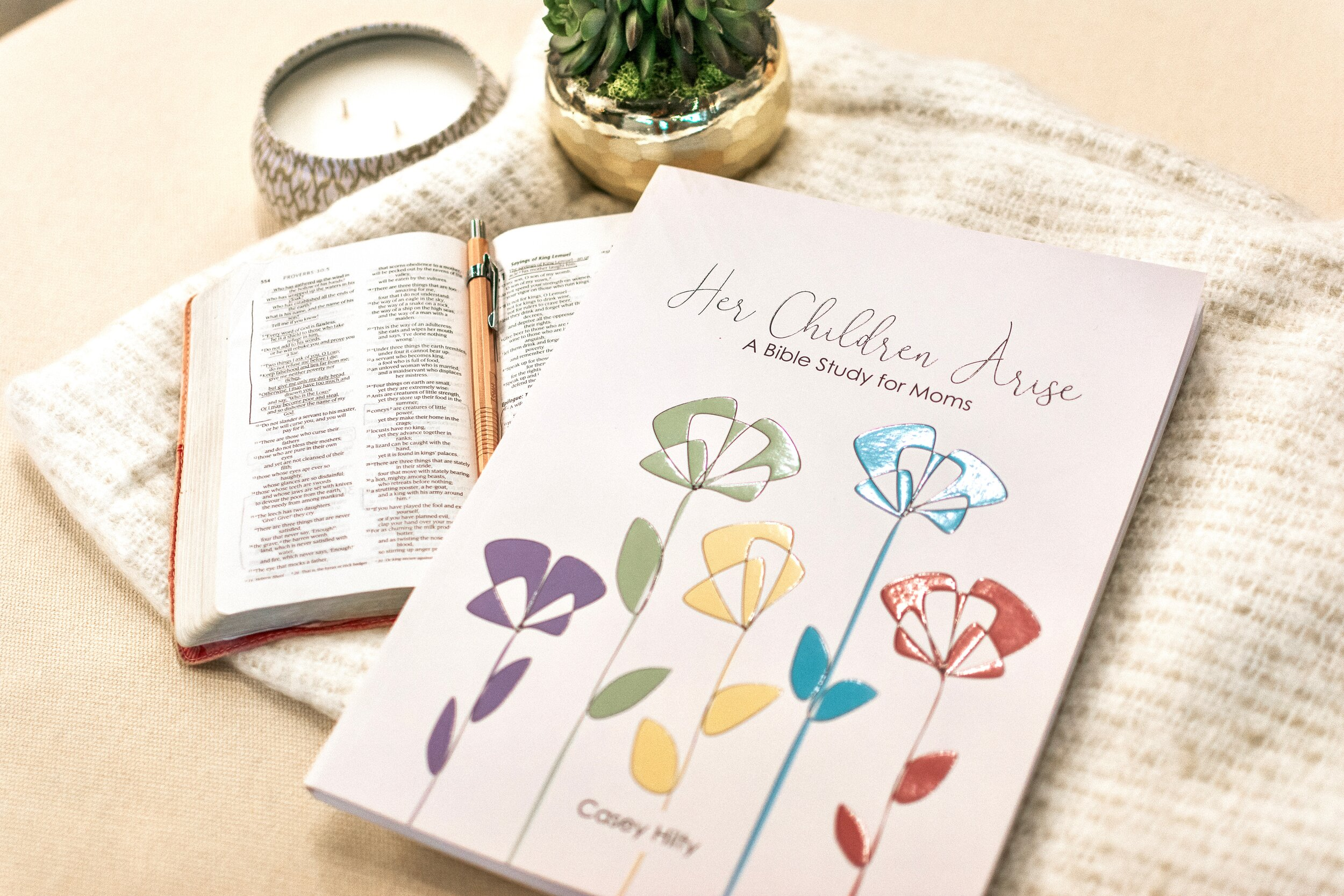 Her Children Arise - THIS STUDY CURRICULUM INCLUDES:· 5-week Bible study with 5 lessons each· 6-session video series· Wrap-up days with discussion questions· Bible memory verses· 5 Family Faith Activities