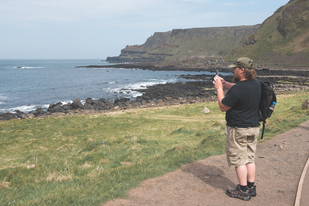 Matt taking one of his many panoramas from our trip.