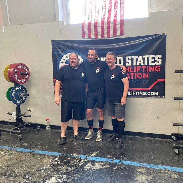 A big congratulations to these bad ass fellows for representing the gym with style and strength today! Weights were crushed, PRs were set, and a good time was had by all!  #strengthtraining #strengthandconditioning #fitness #strengthtrainingorlando #orlandostrength #squat #deadlift #benchpress #overheadpress #lesstalkmoresquat #thatsnotheavy #makeamericaliftagain #usstrengthlifting