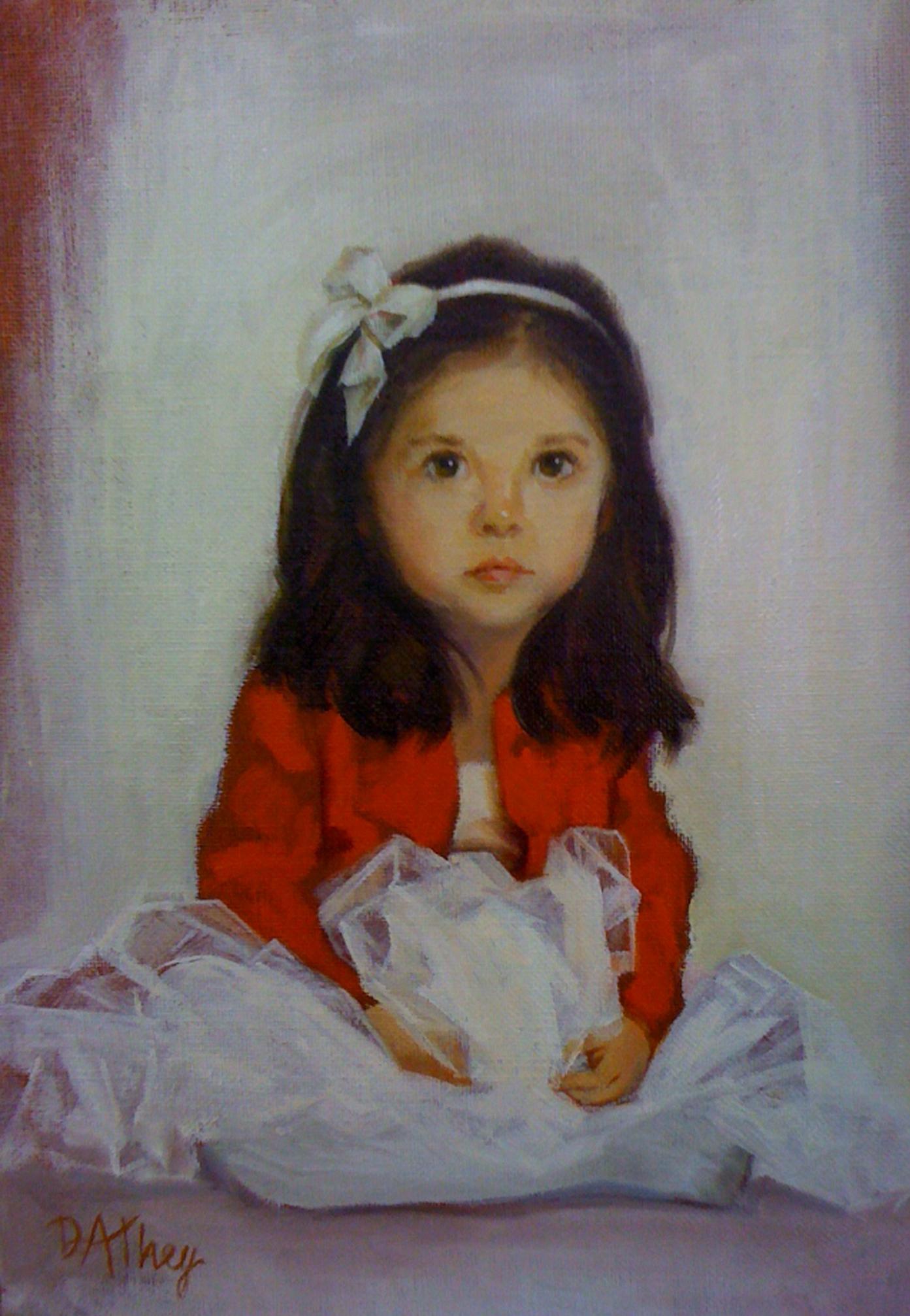 """Charlotte Gibbons"", 2011, 12x9"", Oil on Board"