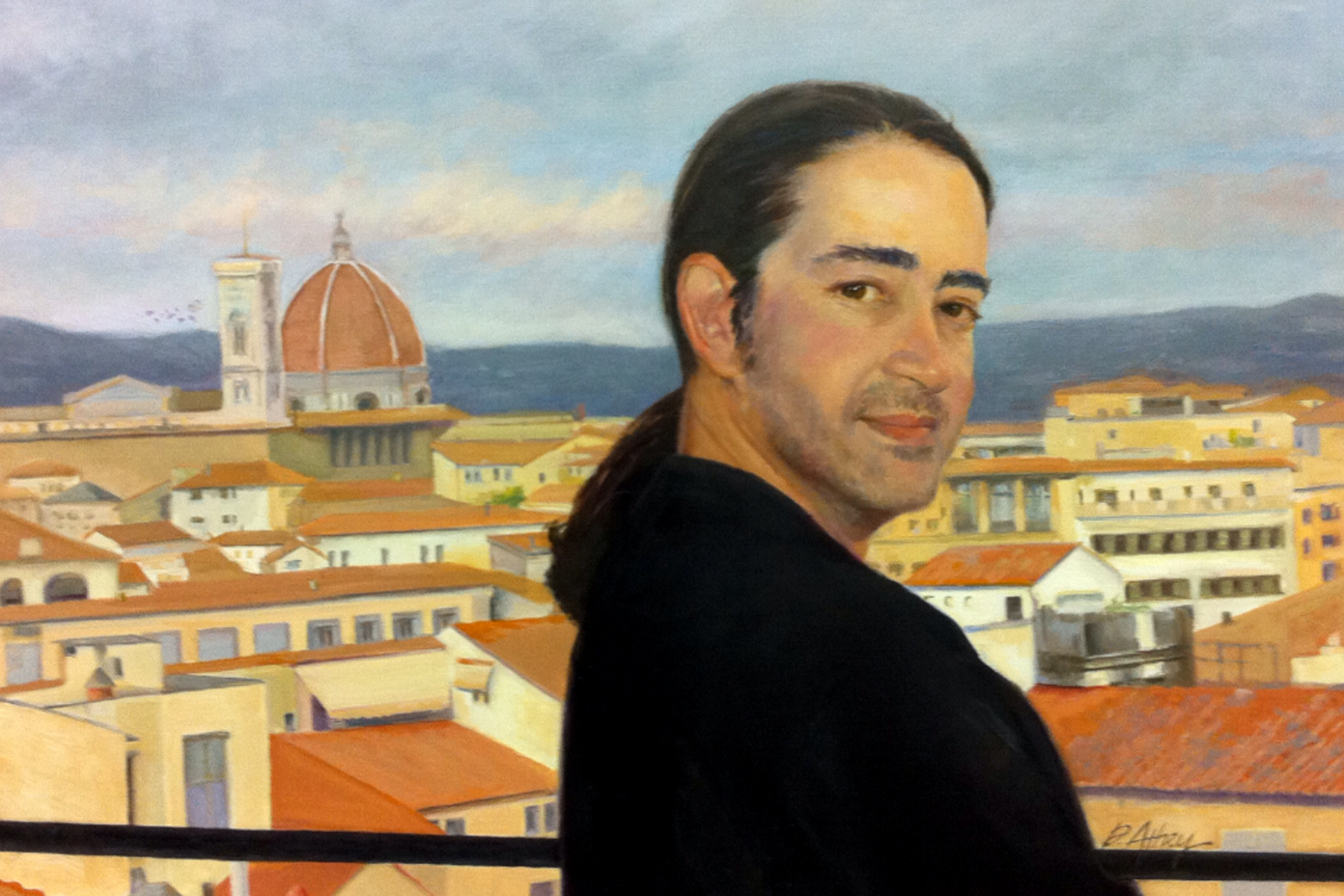 """""""Pietro in Florence"""". 28x22"""". Oil on Linen"""