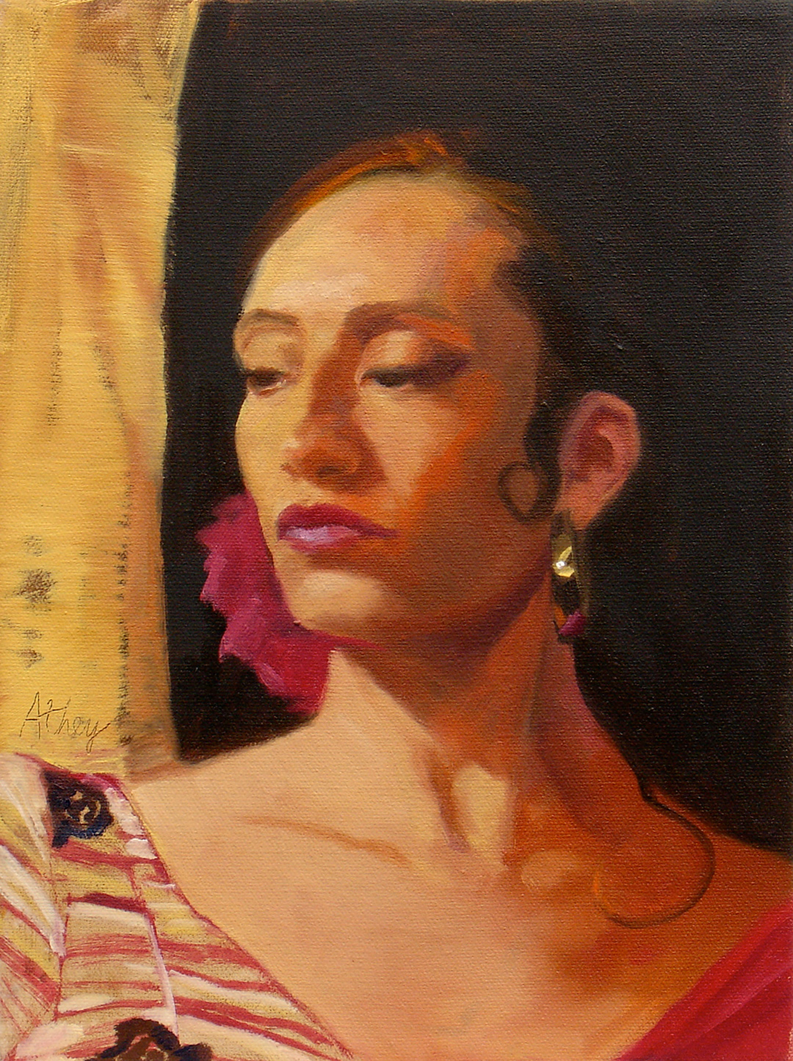 """Flamenco"", 2003, 10x8"", Oil on Board"