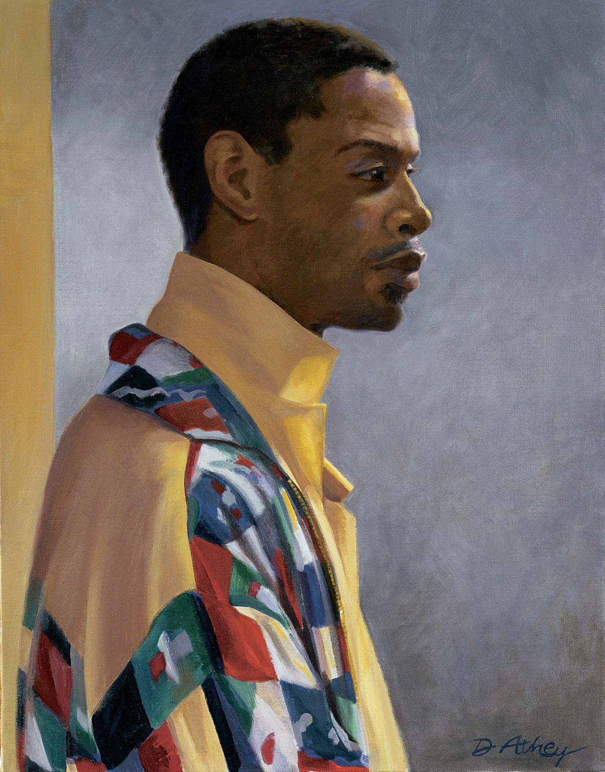 """The Multi-Colored Coat"" 2002, 20x16"", Oil on Linen"