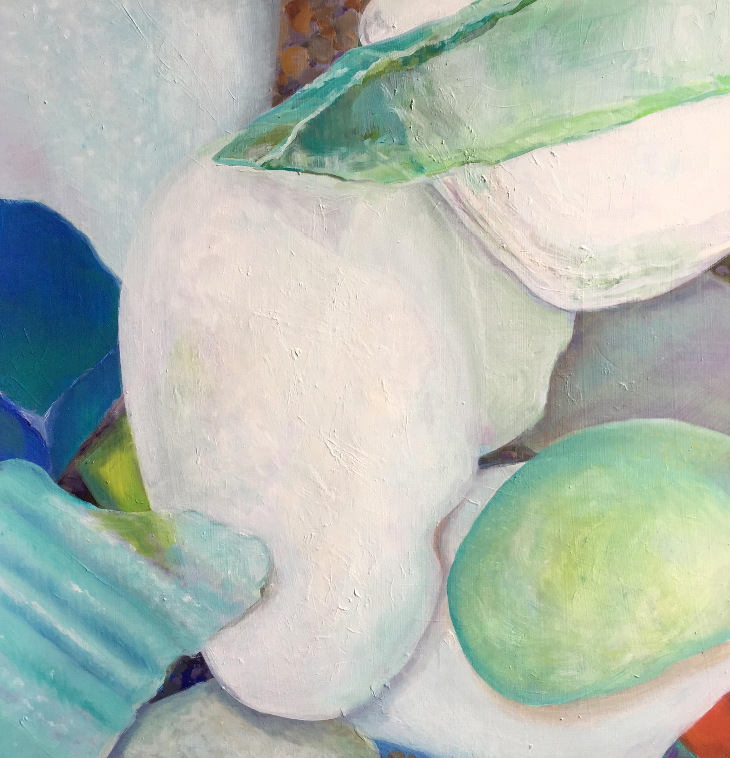 """Seaglass No. 13, 2016, 16x16"""", Oil"""
