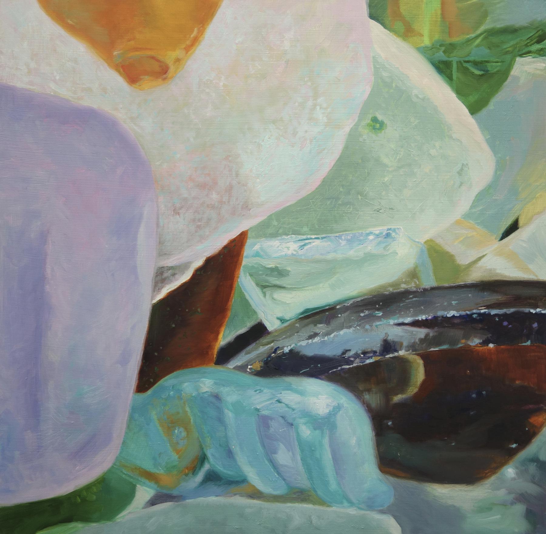 """Seaglass No. 11, 2014, 16x16"""", Oil"""