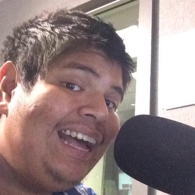 Adolfo manning the mic during his radio days.