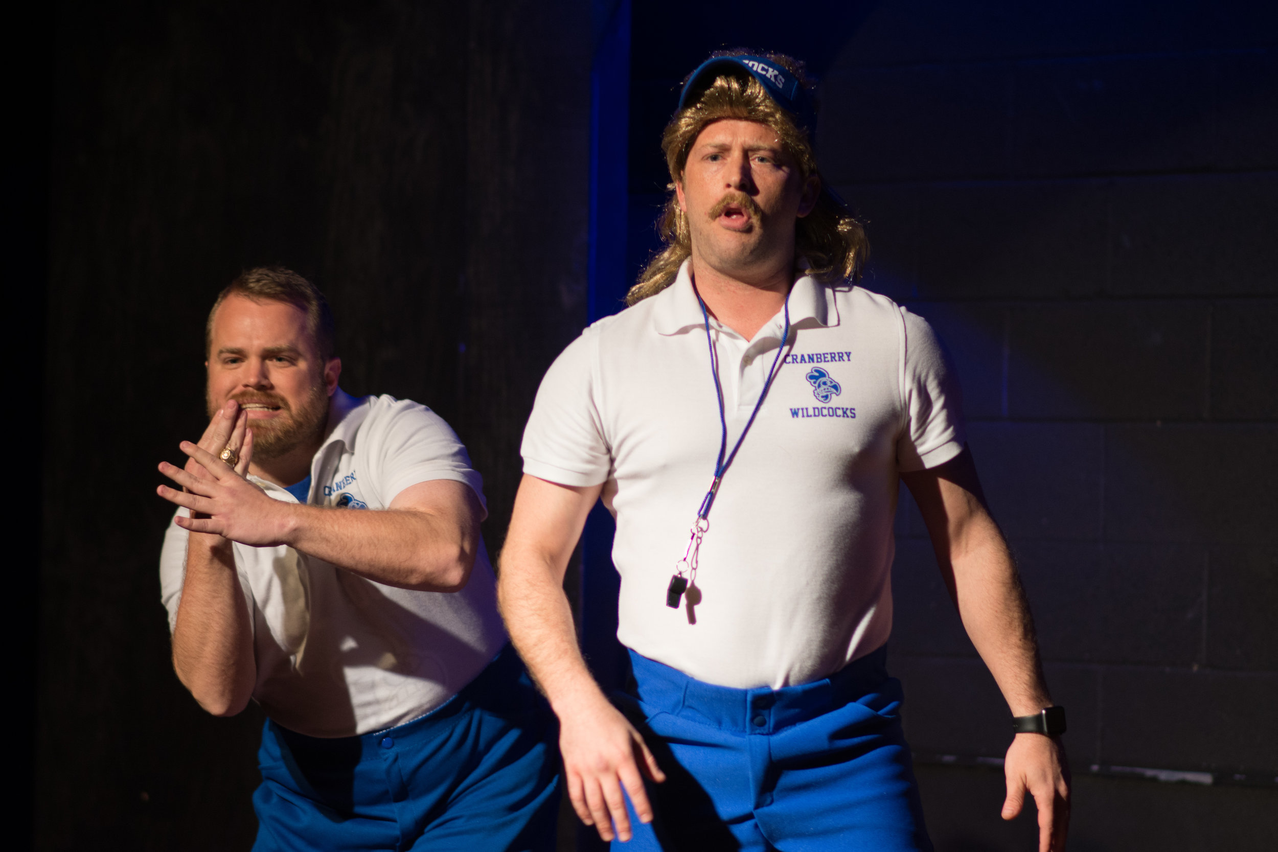 Coach Dale and Coach Gary (Played by Chad Richards) at a recent Pep Rally