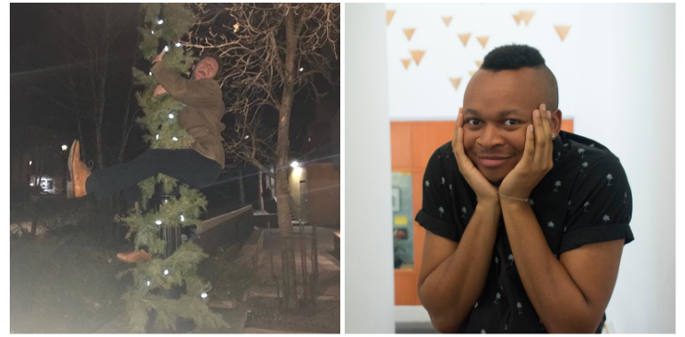 On the Left: George frantically, but comically, scaling a tree to escape from a pack of wolves! On the Right: Nathaniel after being unmasked by the Mystery Inc. gang! And he would've gotten away with it too…!