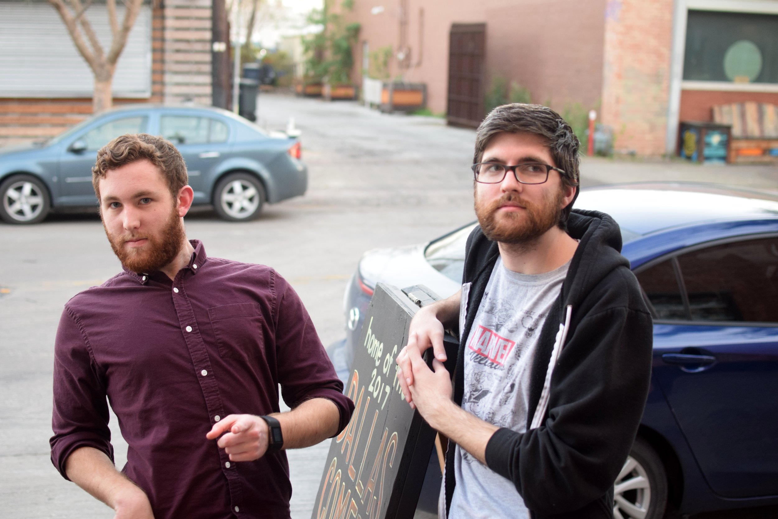 Logan (left) with an unknown human (right) Photo Credit: Jason Hensel