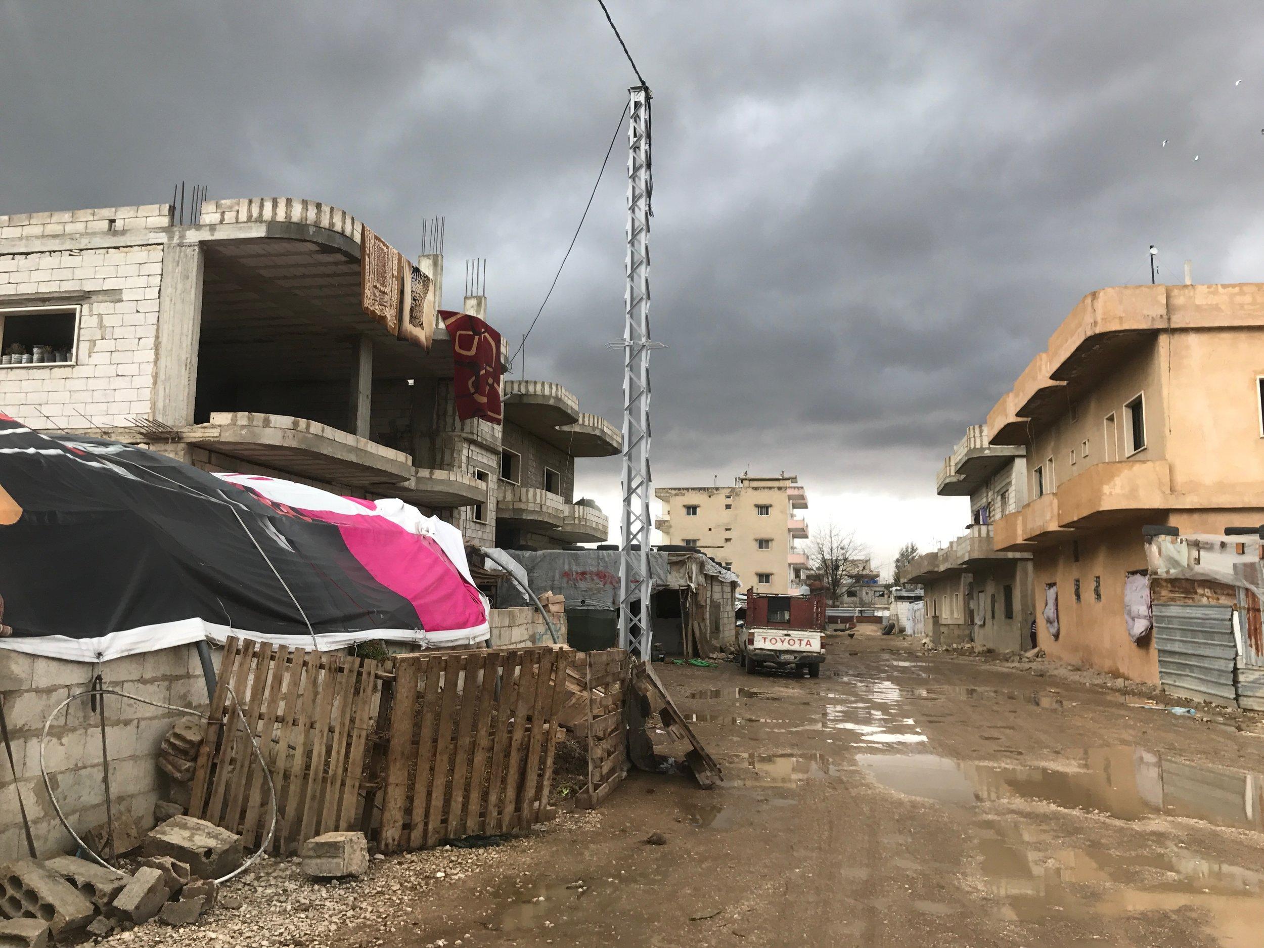 Refugee camp in Lebanon. Photo by Evey McKellar
