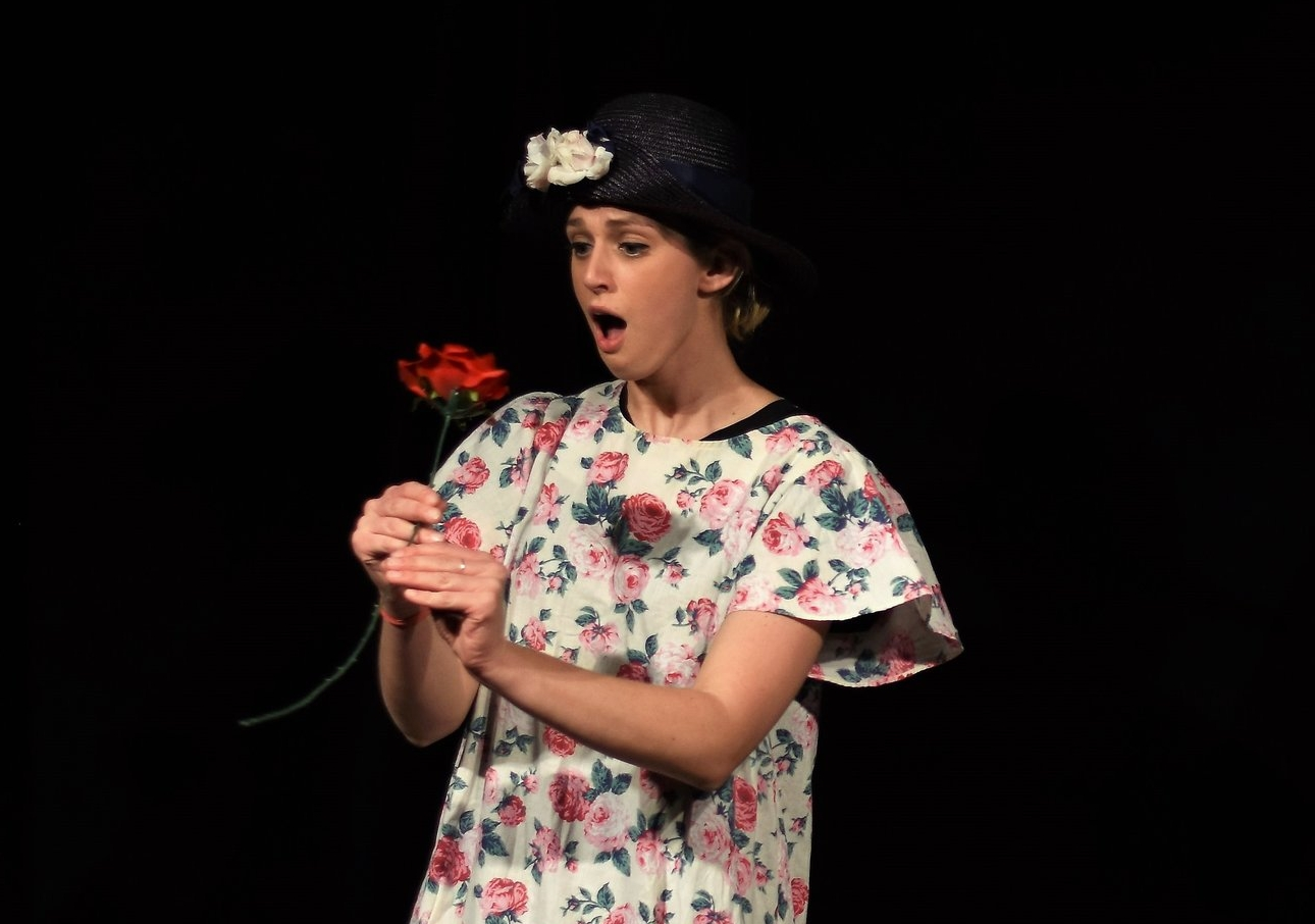 Bonnie Criss in the sketch revue Suspect: A True Crimedy  Kaspars Skels