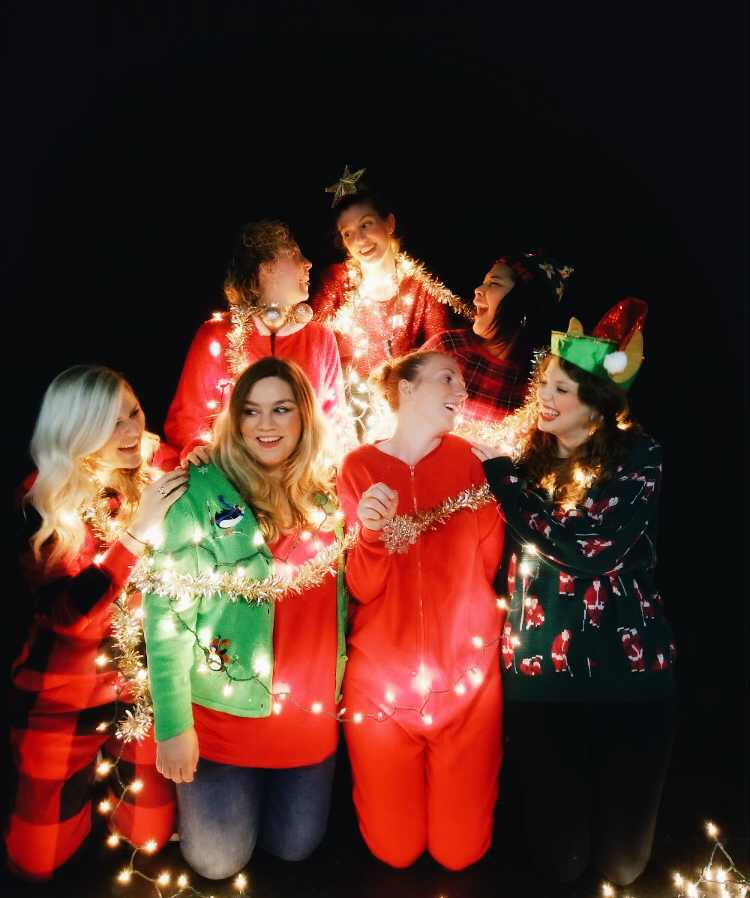 Bonnie (top) and the cast of A Very Carol Christmas  Maggie Rieth Austin