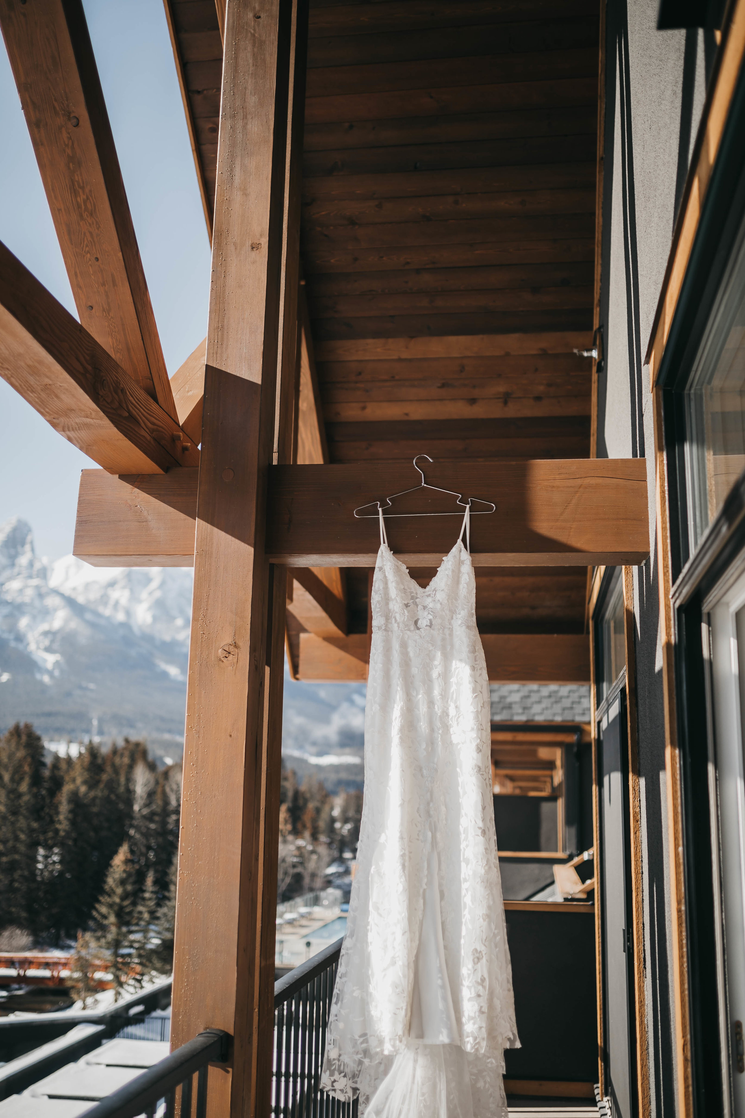 Bridal gown at The Malcom Hotel, bride getting ready, canmore wedding.jpg